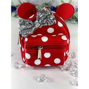 Minnie Silver Bow Wristlet Mini Backpack Loungefly